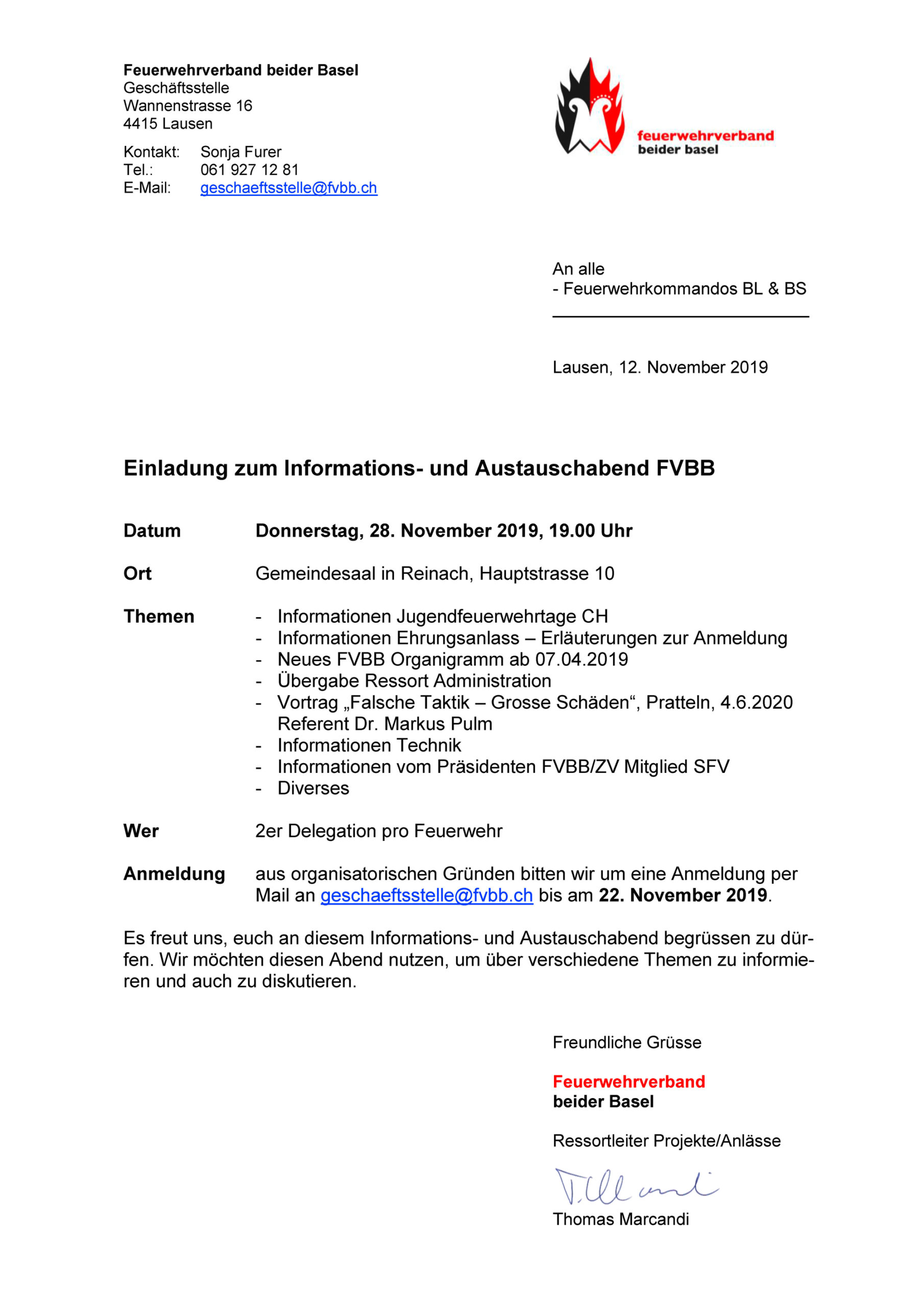 Info-Abend FVBB am 28. November 2019