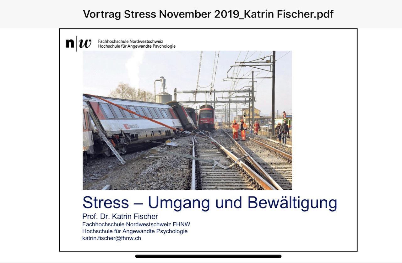"""Fachvortrag """"Stress im Einsatz"""""""